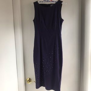 Moschino Jeans Purple Dress with rhinestones